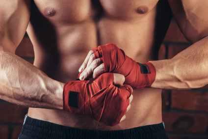 Ein muskulöser Boxer